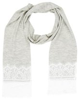 Thomas Wylde Lace-Trimmed Cashmere Scarf w/ Tags