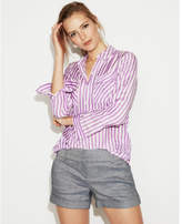 Express striped city shirt by