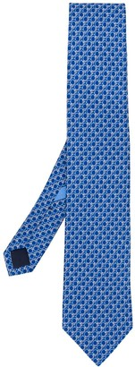 Salvatore Ferragamo Gancini print tie