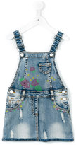 Miss Blumarine denim overalls - kids - Cotton/Polyester/Spandex/Elastane - 4 yrs