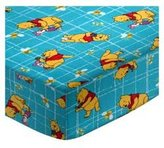sheetworld Pooh Grid Pack N Play Fitted Sheet