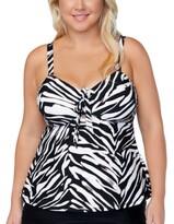 Thumbnail for your product : Raisins Curve Trendy Plus Size Meru Printed Zanzibar Tankini Top Women's Swimsuit