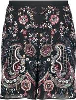 Needle & Thread Cinder embellished georgette shorts