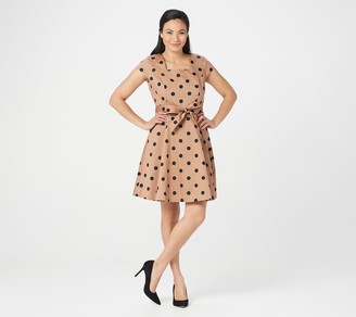 Isaac Mizrahi Live! Special Edition Polka Dot Fit & Flare Woven Dress