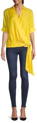 Trina Turk Cotton & Silk-Blend Top