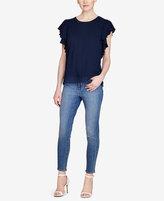 Lauren Ralph Lauren Lace-Hem Stretch T-Shirt