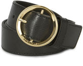 Karen Millen Round-buckle Belt - Black