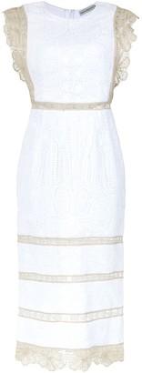Martha Medeiros Lace Midi Dress