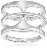 Vince Camuto Basic Light Rhodium T-Ring, Size 7