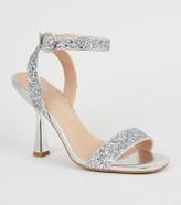New Look Glitter 2 Part Slim Flared Heels