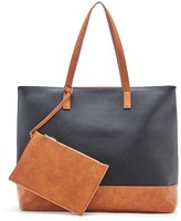 Sole Society Aurelia Mixed Material Tote