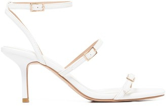 Forever New Dolly Buckle Low Stiletto Heels - White - 36