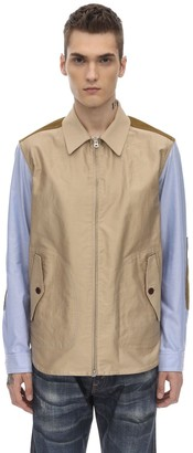 Junya Watanabe Patchwork Zip Cotton Oxford Jacket