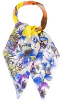 Kenzo Floral Print Woven Scarf
