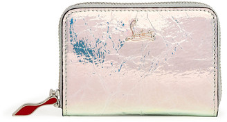 Christian Louboutin Panettone Banquise Metal leather coin purse
