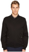 The Kooples Cupro Jacket with Zip and Officer Style Collar