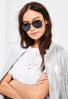 Missguided Black Classic Aviator Sunglasses