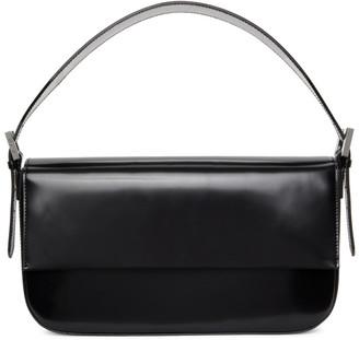 BY FAR Black Patent Manu Shoulder Bag