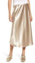 Love, Fire Women's Satin Midi Skirt