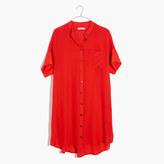 Madewell Silk Button-Down Shirtdress