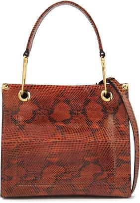 Marni Snake-effect Leather Shoulder Bag