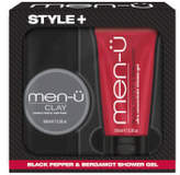 Menu men-u Style+ Black Pepper & Bergamot Shower Gel 100ml - Clay