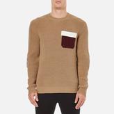 Msgm Contrast Pocket Knitted Jumper Brown