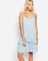 Vila Strappy Dress With Ruffle Detail