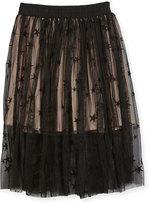 Stella McCartney Amalie Star-Print Tulle Skirt, Size 4-14
