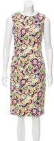 Carolina Herrera Sleeveless Abstract Print Dress w/ Tags