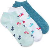 Charter Club Women's 3-Pk. Whale Fashion Socks, Only at Macy's