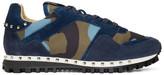 Valentino Garavani Valentino Blue Camo Rockrunner Sneakers