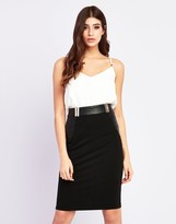 Lipsy Buckle Pu Pencil Skirt