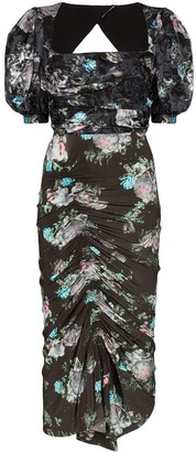 Preen by Thornton Bregazzi Gizzy floral print midi dress