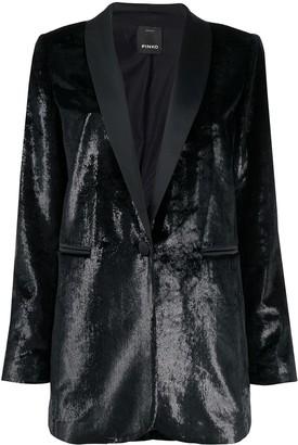 Pinko textured V-neck blazer