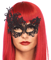 Leg Avenue Black Fantasy Venetian Eye Mask