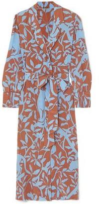 Johanna Ortiz Turn On Your Mind Printed Silk Crepe De Chine Robe