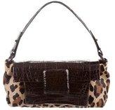 Nancy Gonzalez Crocodile & Ponyhair Handle Bag