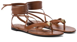Valentino Roman Stud leather thong sandals