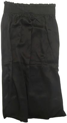 Cos Navy Silk Skirt for Women