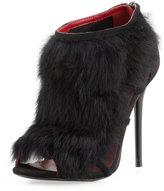Charles Jourdan Ecliptic Fur Bootie, Black