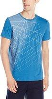 Calvin Klein Men's Grid Wire Frame Print Graphic Crew Neck T-Shirt