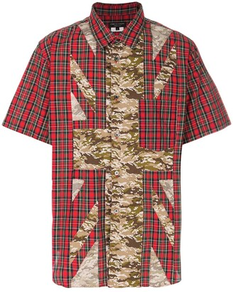 Comme des Garcons Pre-Owned camouflage and tartan shirt