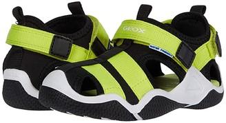 Geox Kids Wader 11 (Toddler/Little Kid) (Black/Lime) Boy's Shoes
