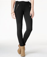 American Rag Ponte Zipper Leggings, Only at Macy's