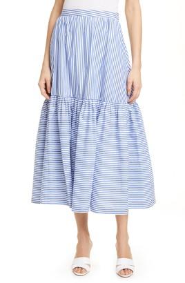STAUD Orchid Stripe Skirt