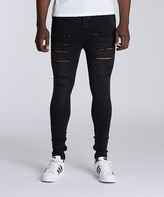 SikSilk Ripped Distressed Hareem Denim Jean