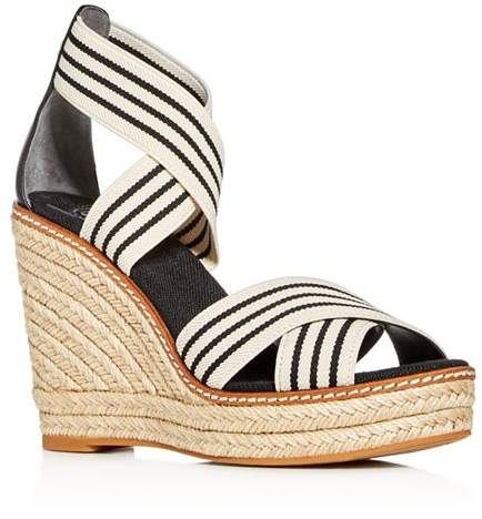 86e338ecba Tory Burch Black Wedges - ShopStyle