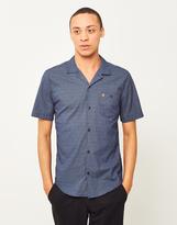 Farah Trebant Short Sleeve Revere Collar Shirt Blue