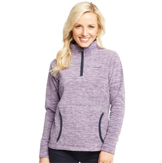 Weird Fish Womens Nancy 1/4 Zip Melange Fleece Purple Magic